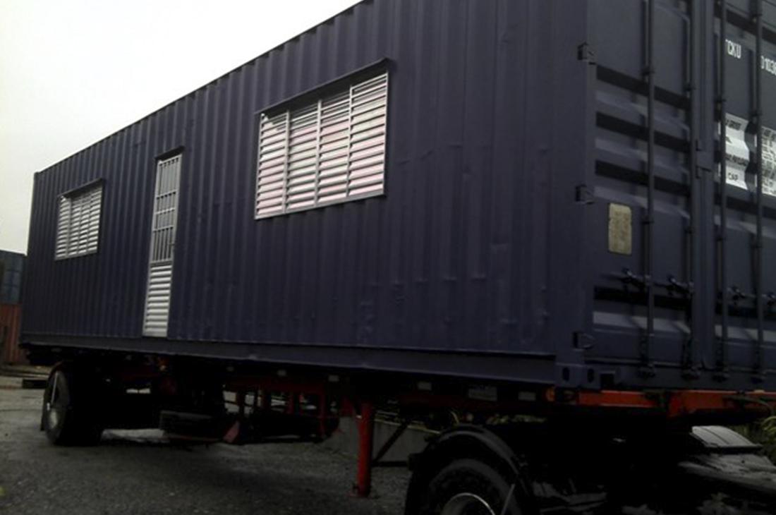 container dry 40 pés – tipo escritorio