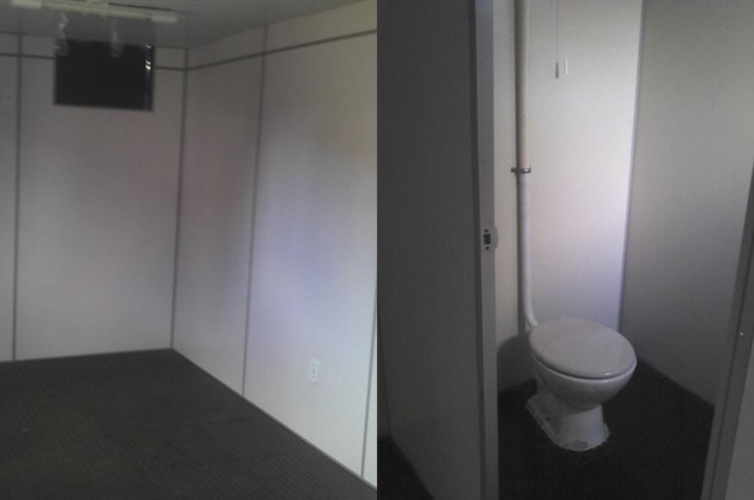 modificado revestido com banheiro